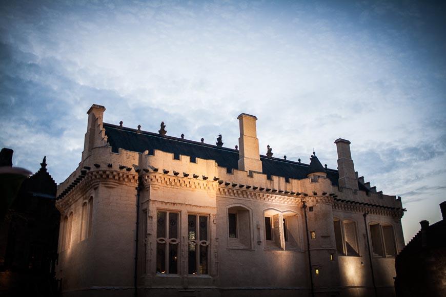 Stirling castle gently illuminated