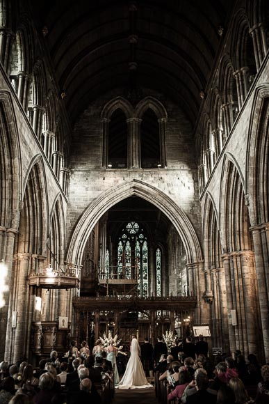 Wide angle of dunblane cathedral