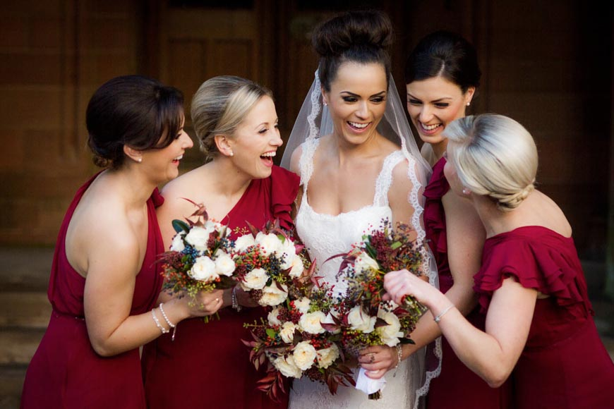 Mount Stuart Wedding Bride And Her Bridesmaids
