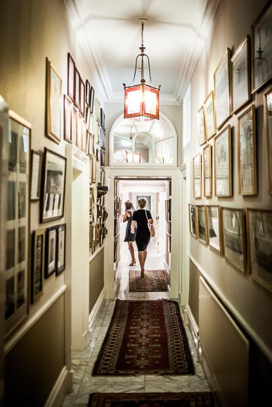 guests walking down the halway in Marlfield House