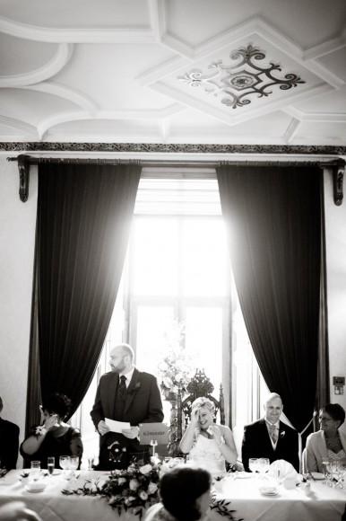 bridegroom gives speech