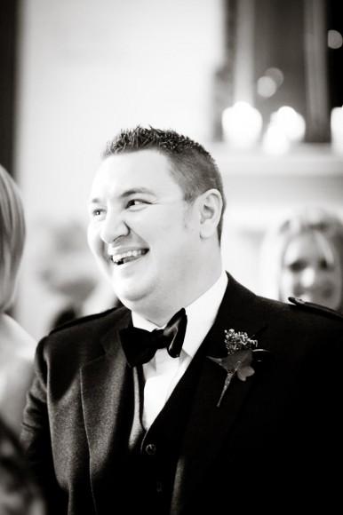 wedding guest laughs at speech