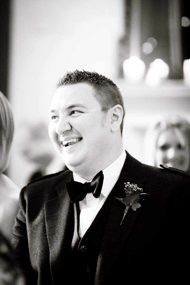 wedding guest laughs at speech
