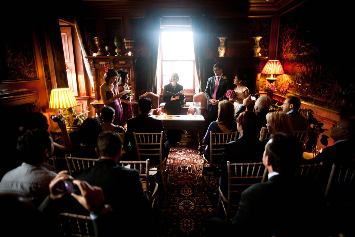 wedding ceremony at prestonfield house in ediburgh