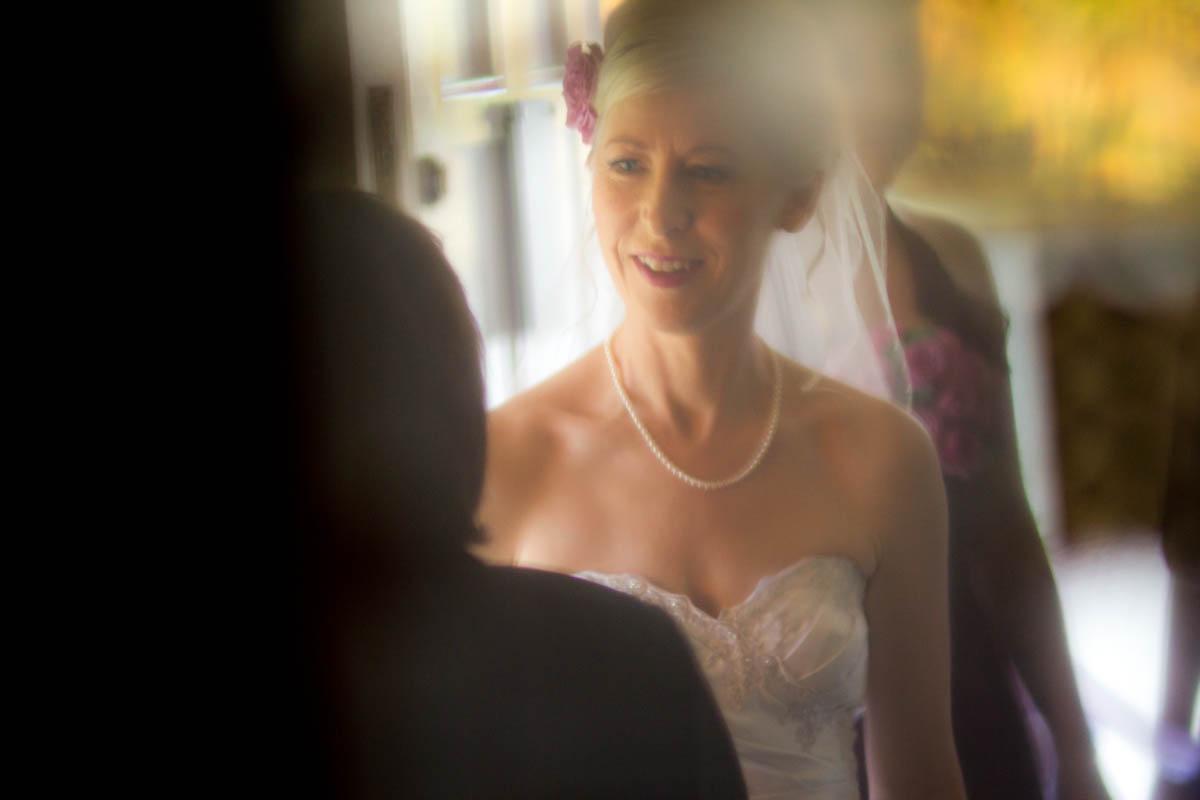bride in conversation