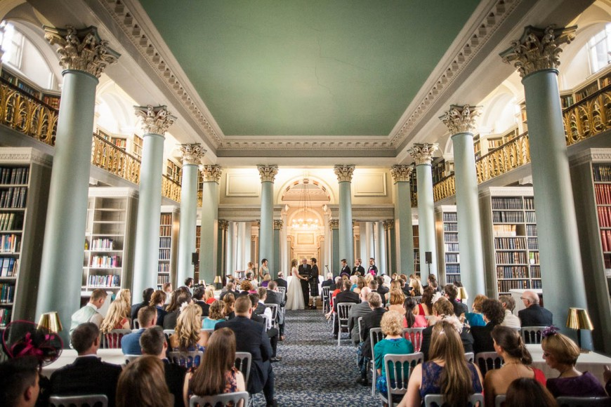 wedding ceremony from afar at signet library edinburgh
