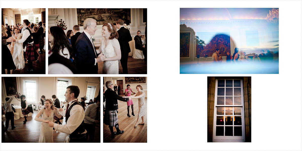 Guests dance in Hopetoun House