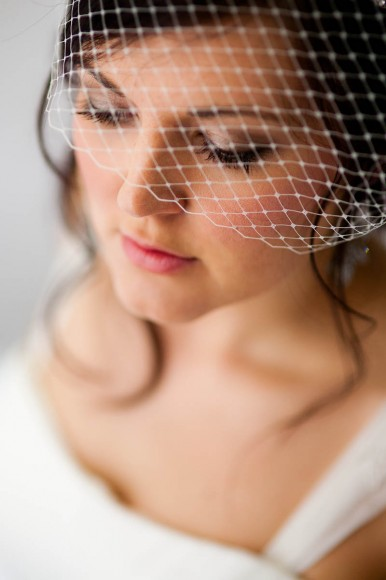 bride up close