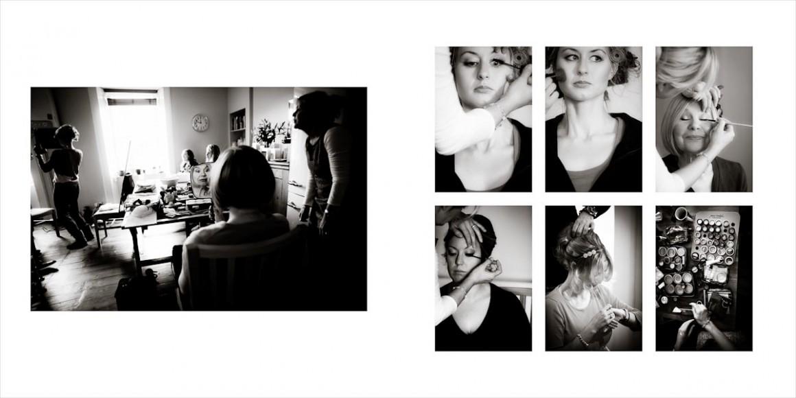 Bridesmaid hairdressing and make-up