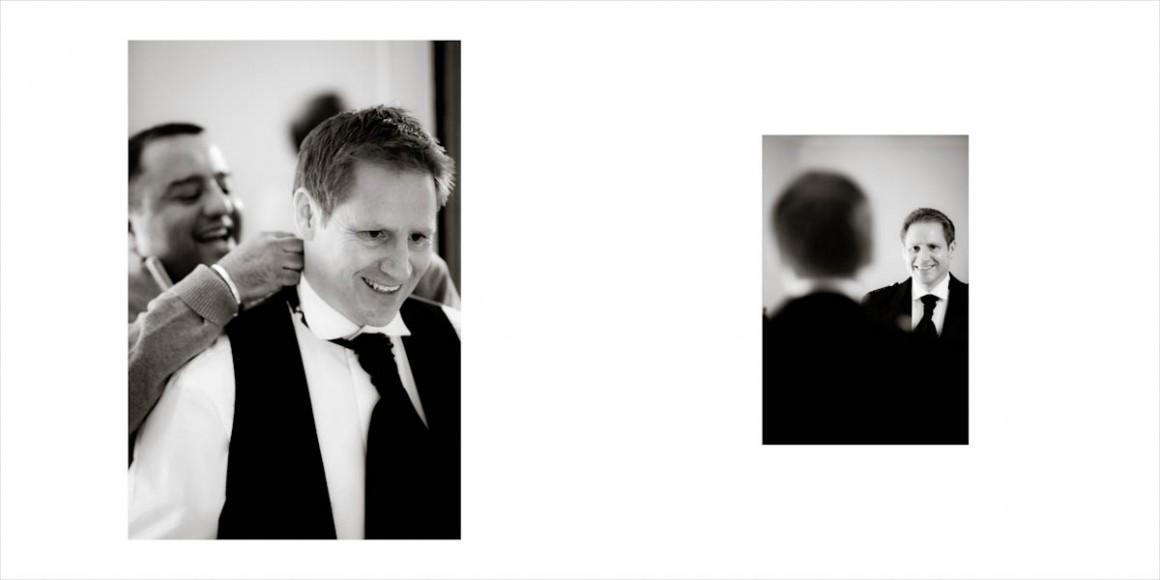 the groom is helped