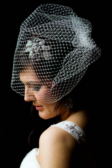 bride looking beautiful headdress