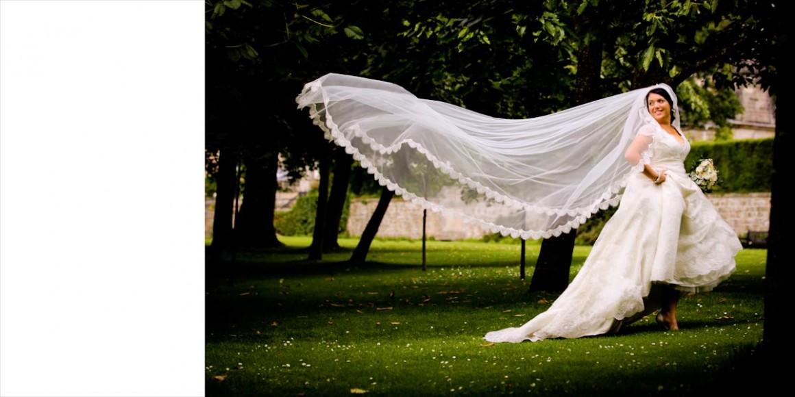 The bridal veil flows