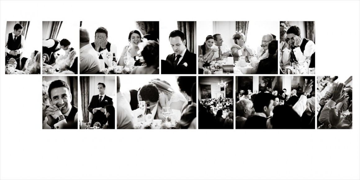 The best man give his speech between people shyness