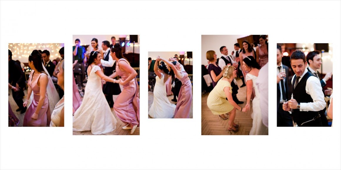 The bride dance with everyone