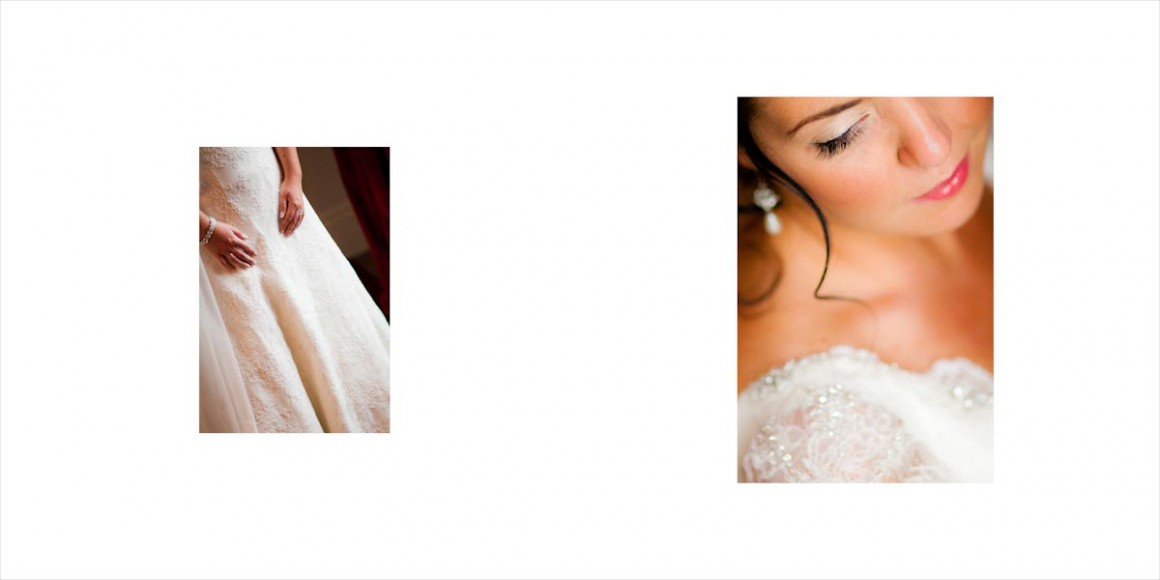 The bride's wedding dress