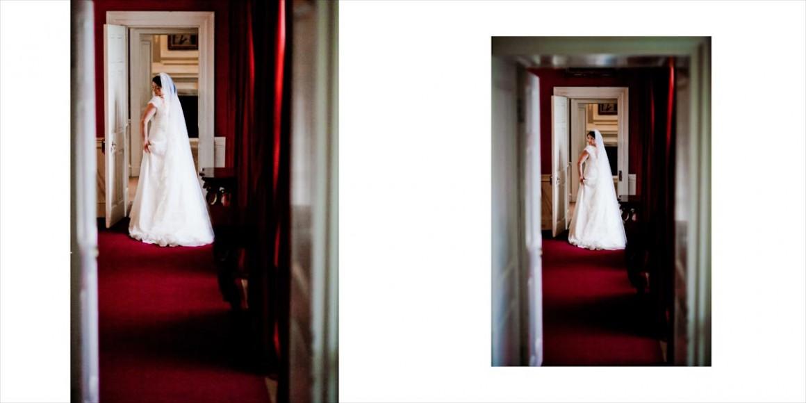 The bride at a hallway