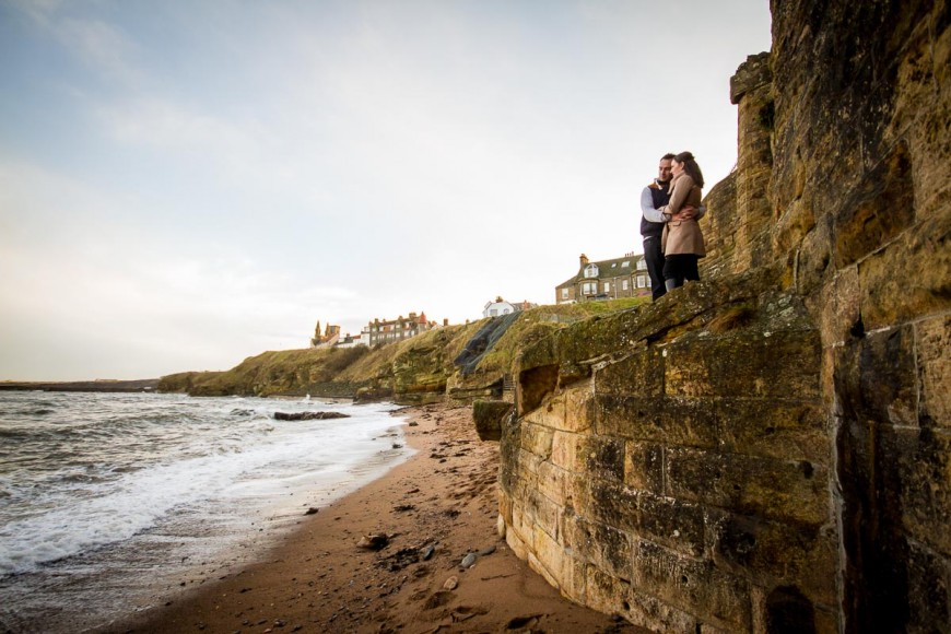 engagement photography st andrews beach