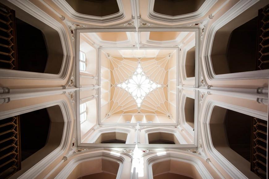 ornate ceiling at Drummuir Castle