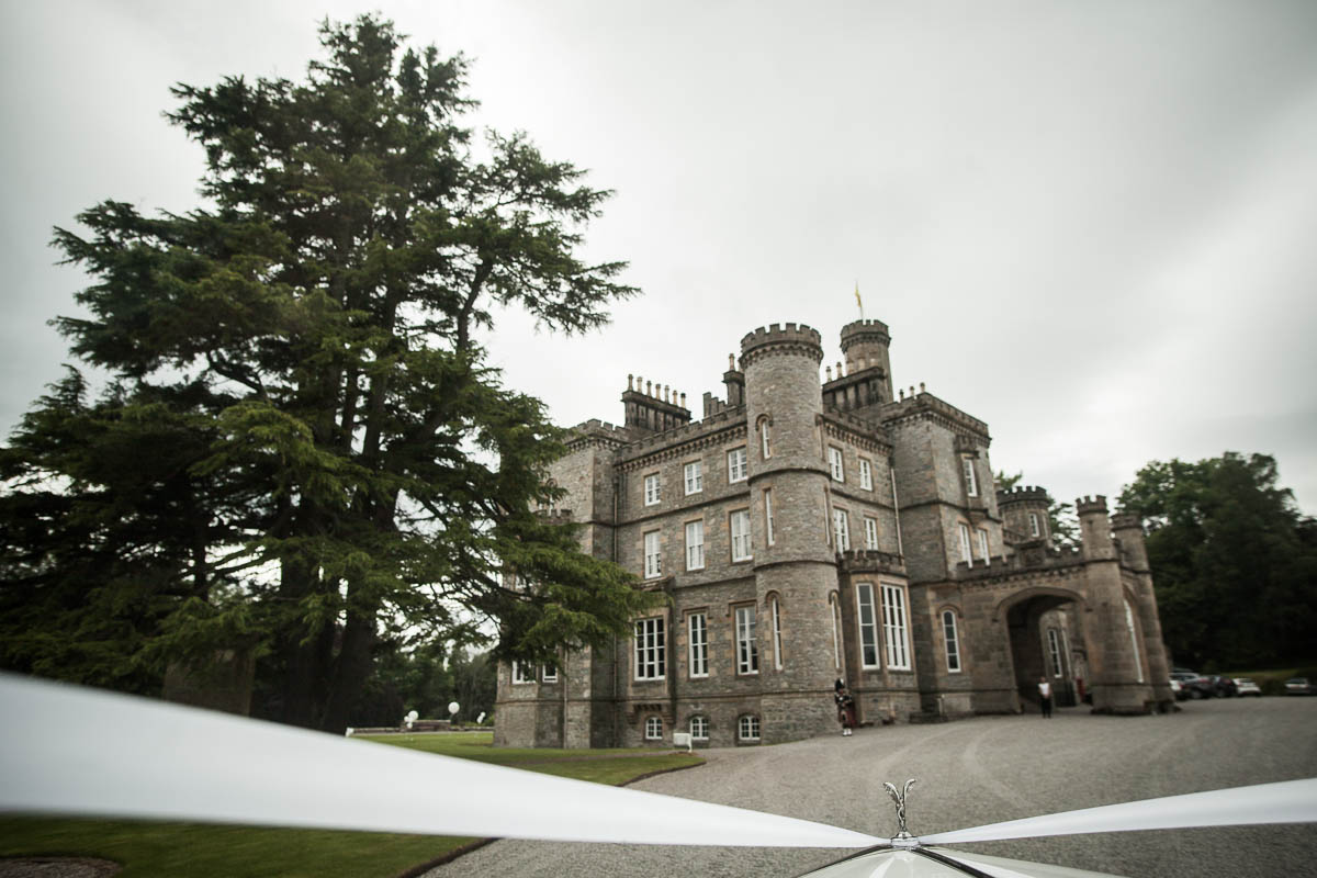 drummuir castle wedding car