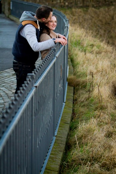 engagement photography st andrews fence