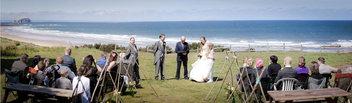 seaside wedding ceremony on beach