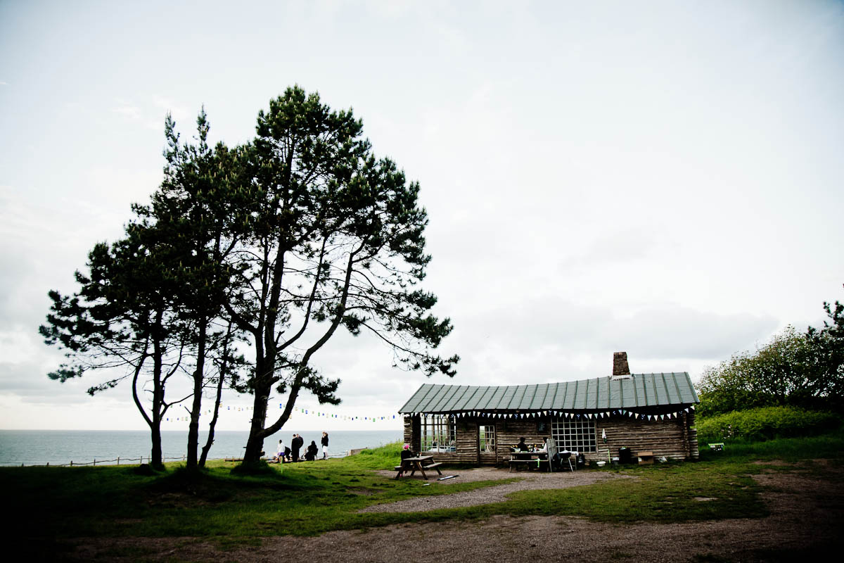 wedding at Ravensheugh log cabin