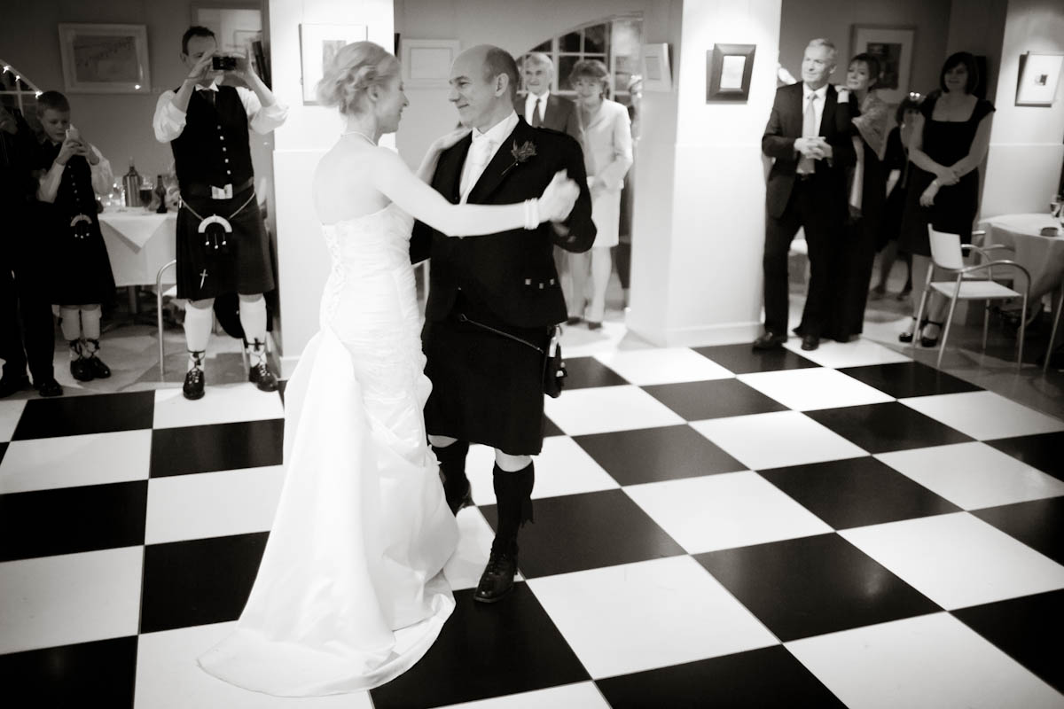 bride and groom first dance at house for an art lover in glasgow