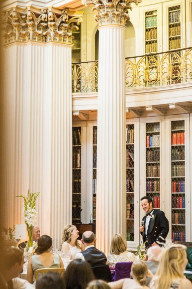 groom's speech at wedding in signet library edinburgh