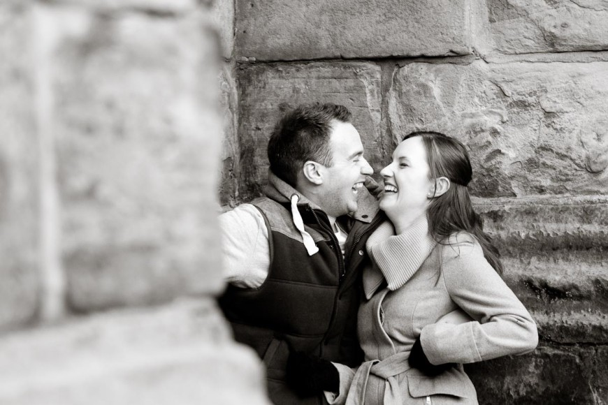 engagement photography st andrews laughing