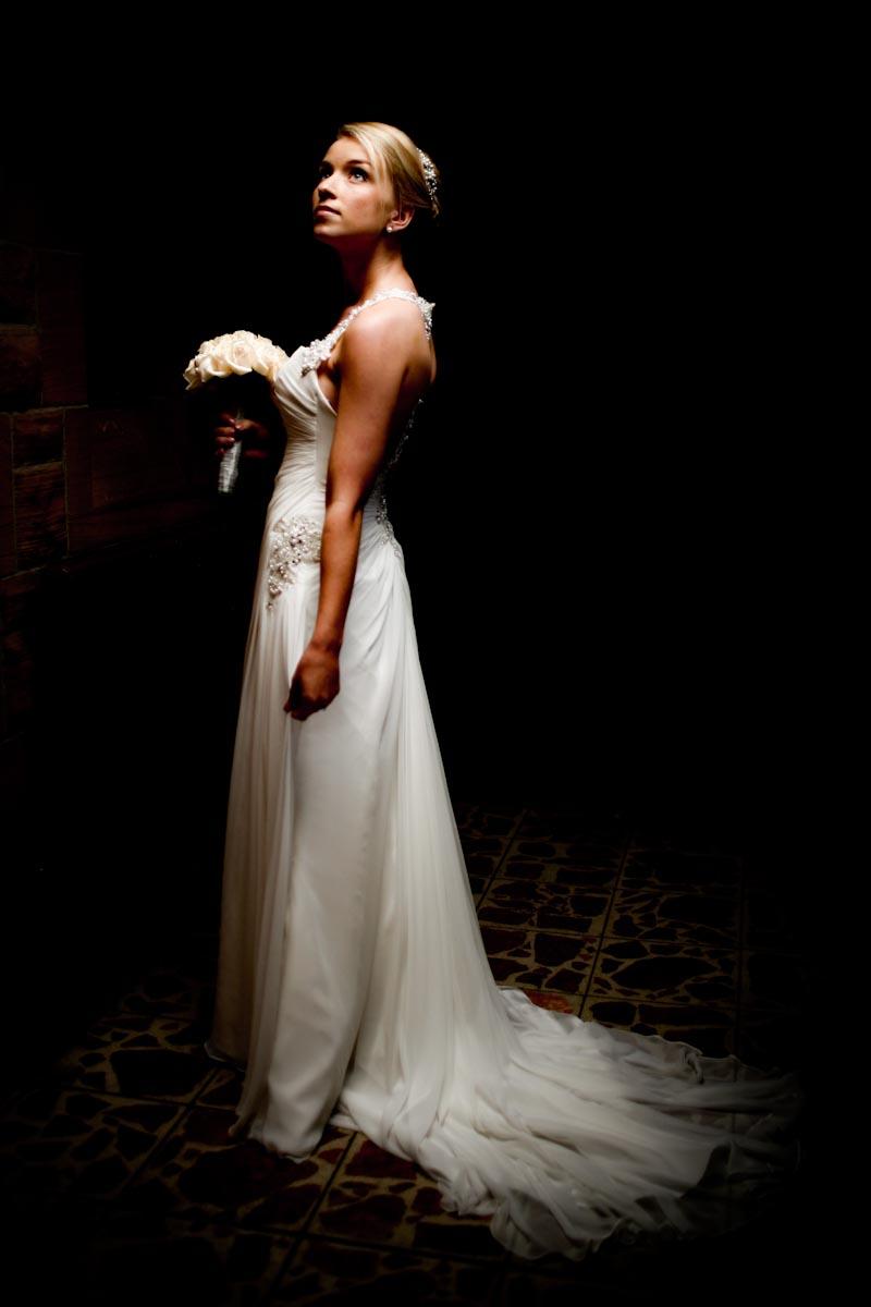 bride in light