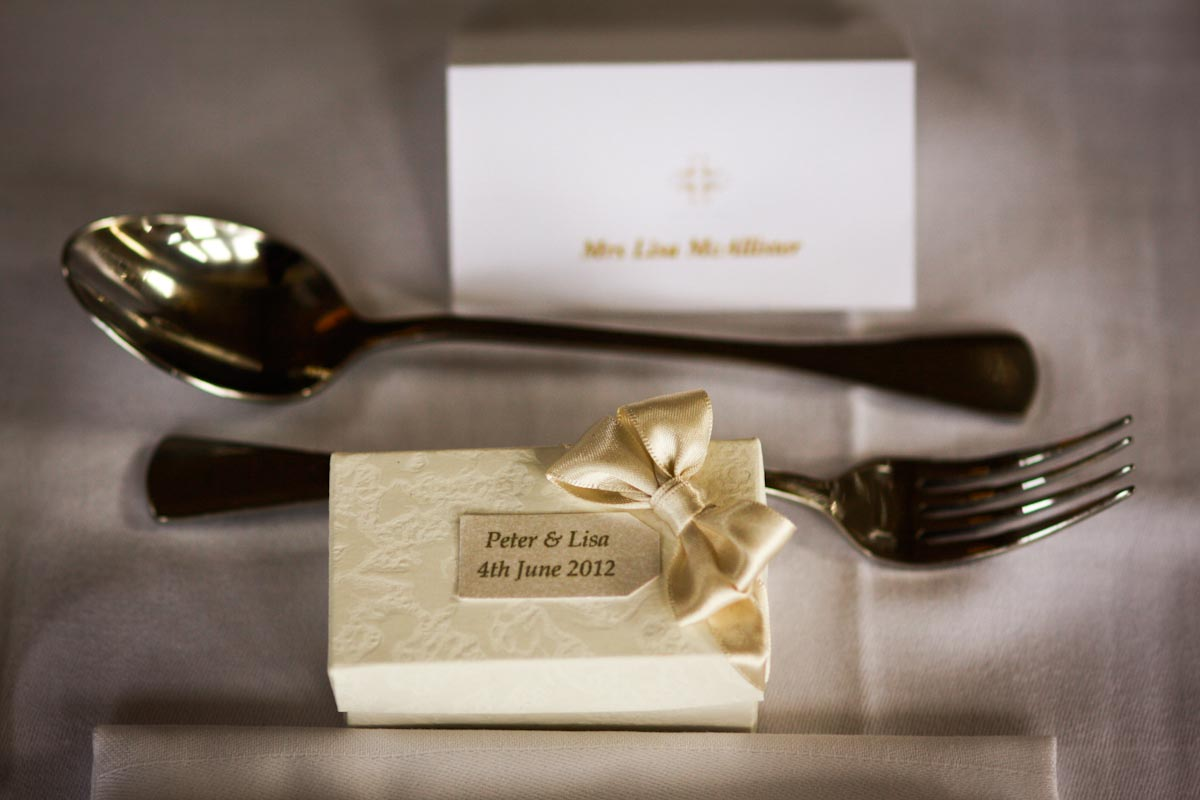 cutlery and wedding favour
