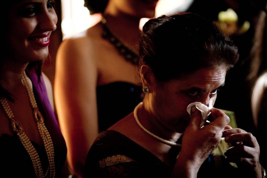 indian woman cries at wedding