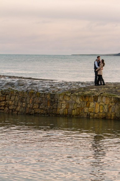 engagement photography st andrews pier at dusk