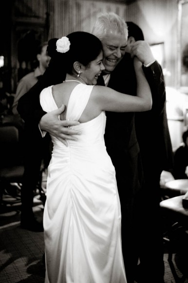 bride dances with wedding guest