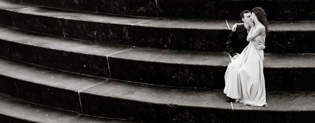 engagament photography portobello beach steps