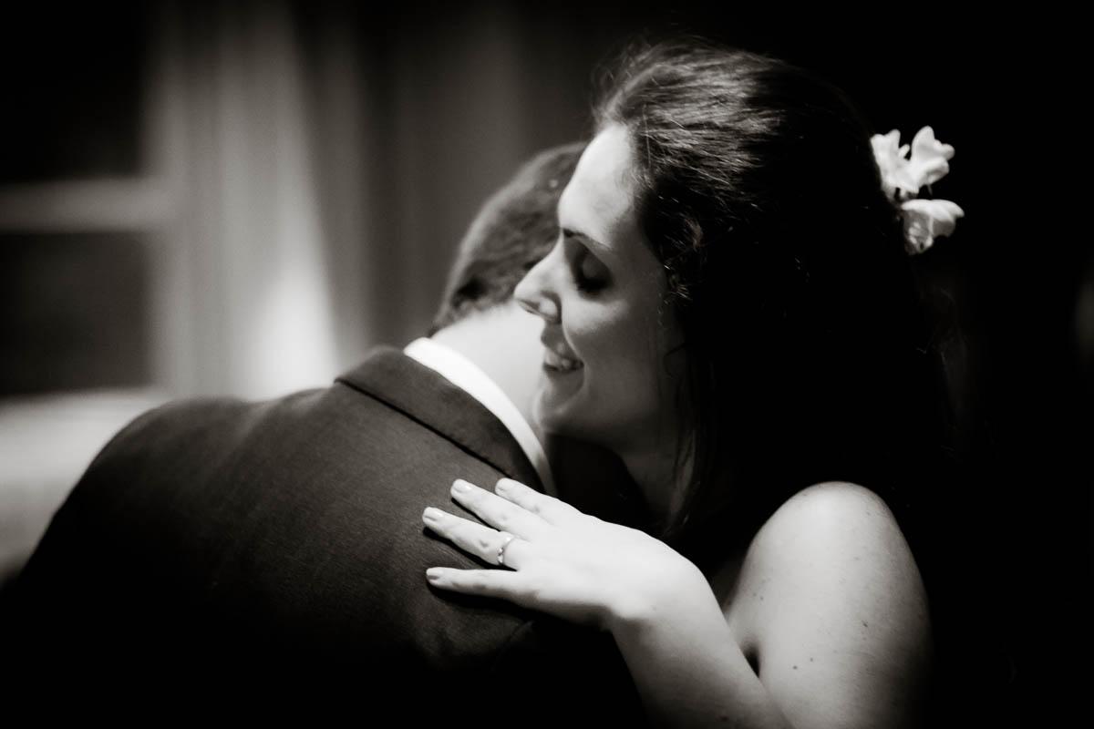 bride and groom slow dance at wedding ceilidh at drummuir castle
