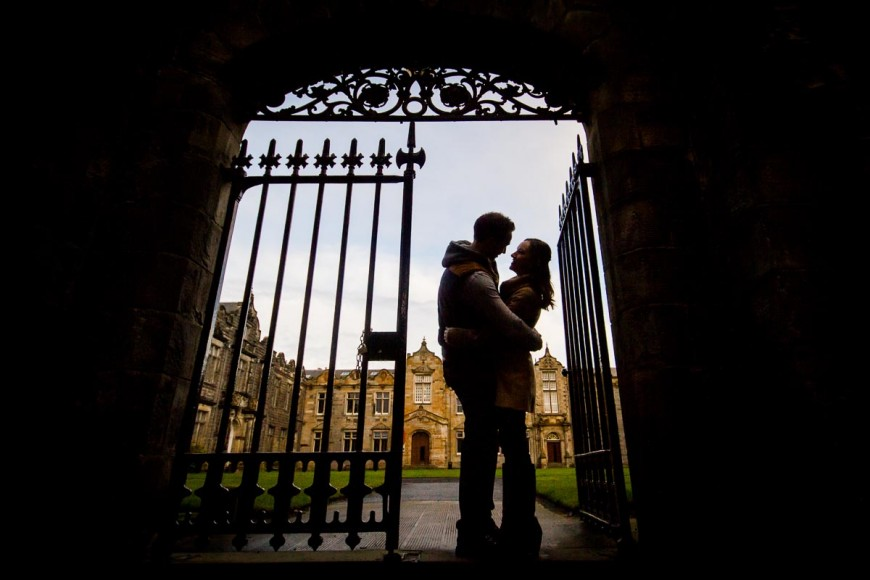 engagement photography st andrews university
