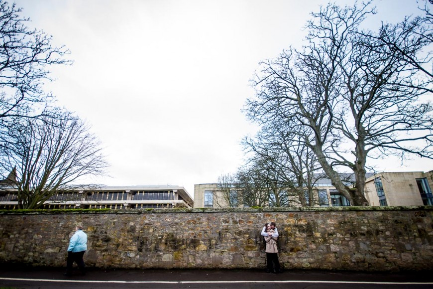 engagement photography at st andrews stone wall