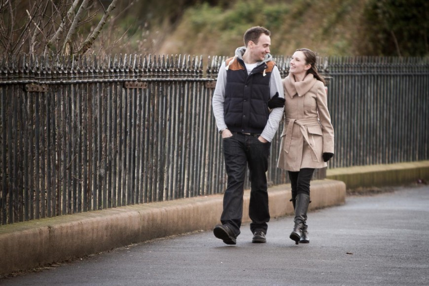 engagement photography st andrews walking