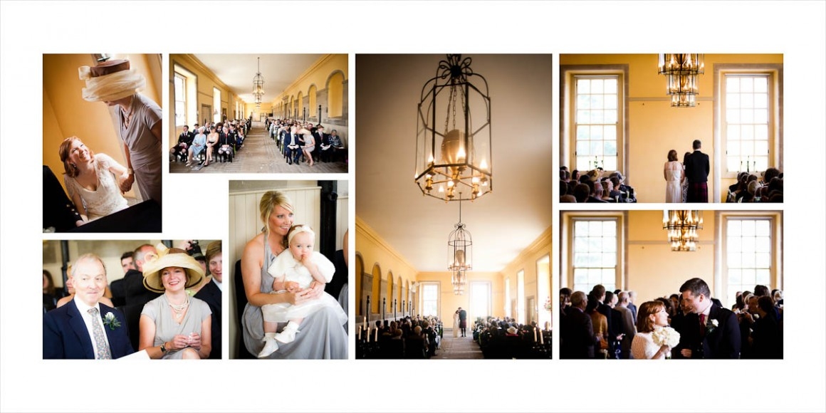 The wedding ceremony at hopetoun house